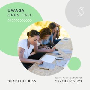 OPEN CALL – zgłoszenia tutorów i warsztatów